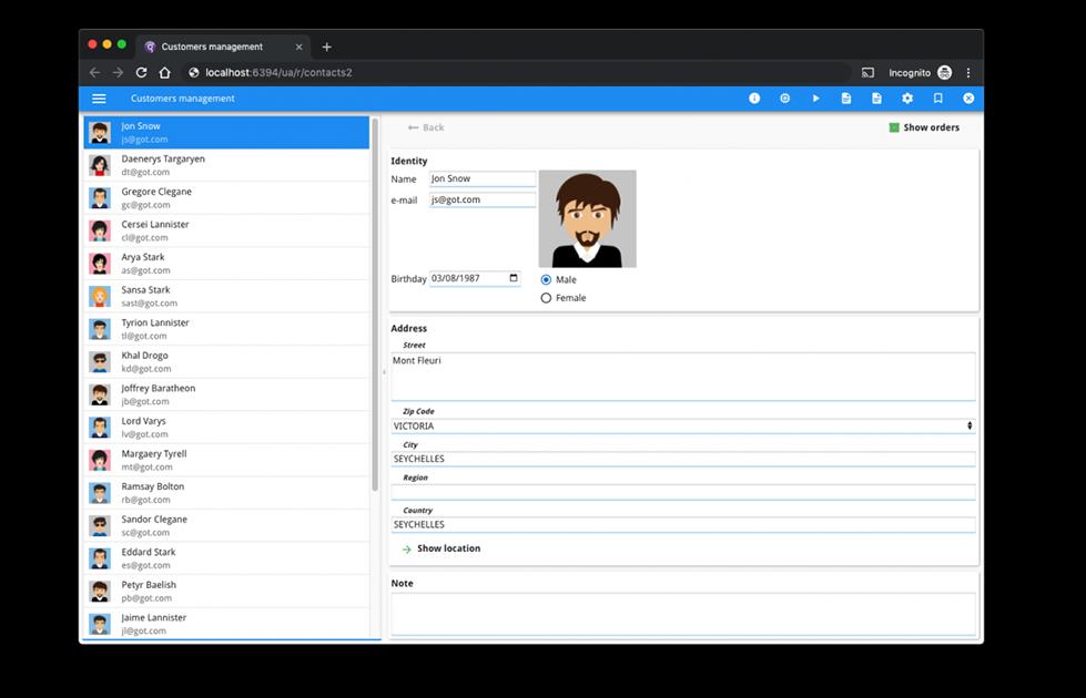 Genero Browser Client
